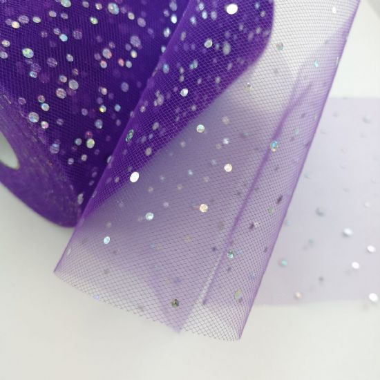 Hologram Sequins Tulle Roll